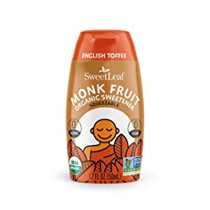SweetLeaf Organic Monk Fruit Liquid English Toffee, 1.7 Oz