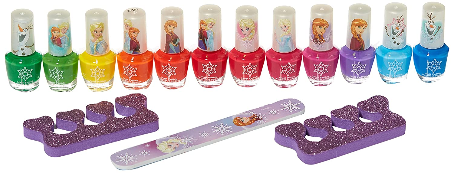 Amazon.com : Disney Frozen Best Peel-Off Nail Polish Deluxe Gift Set ...