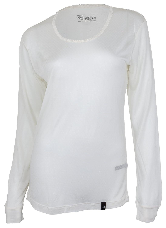 f08f8500febc6 Amazon.com  Terramar Women s Thermasilk Scoop-Neck Top  Clothing