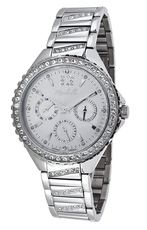 Miabelle Damen-Armbanduhr Analog Quarz Diamanten Edelstahl - 12-010W-C-MB