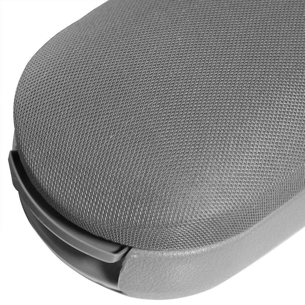 Armauflage mit Staufach Mittelarmlehne gepolstert grau pro.tec Textil