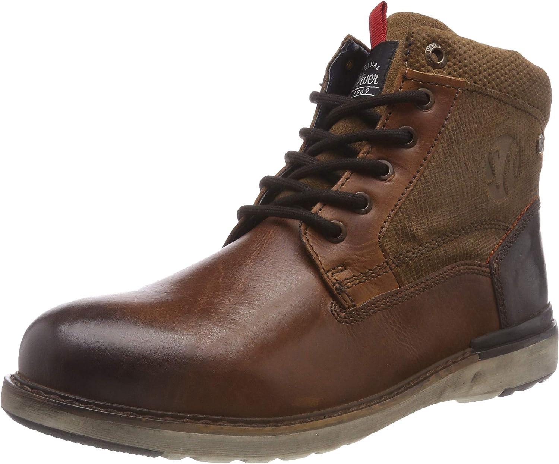 s.Oliver Men's Combat Boots, Brown Tan