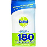 Dettol Antibacterial Disinfectant Wipes (Count of 180)
