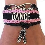 Dance Bracelet Gift for Girls, Infinity Dance