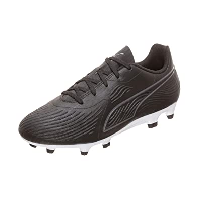 pretty nice a418a 79236 Puma One 19.4 FG AG Jr, Chaussures de Football Mixte Enfant, Noir Black