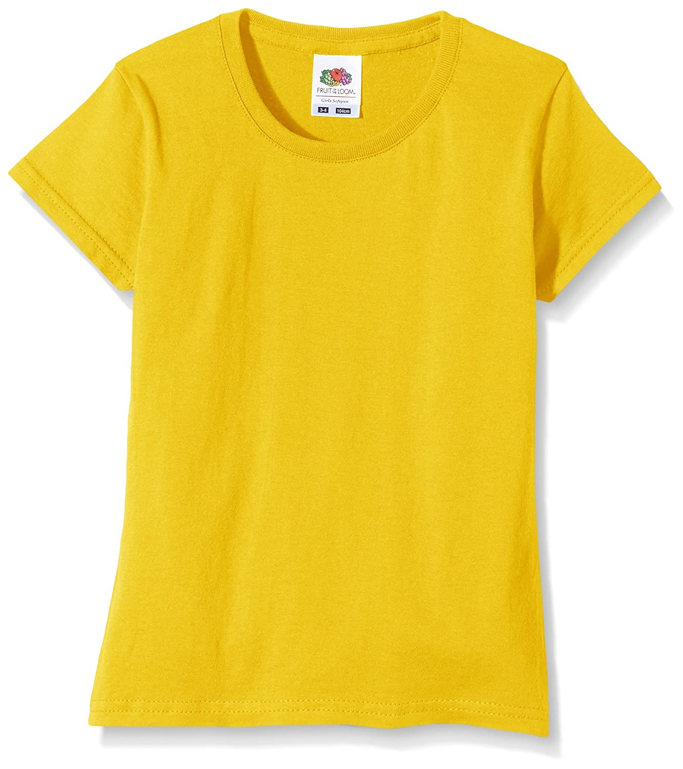 Fruit of the Loom Girls Softspun T-Shirt - 10 Colours/Ages 3-15 Years