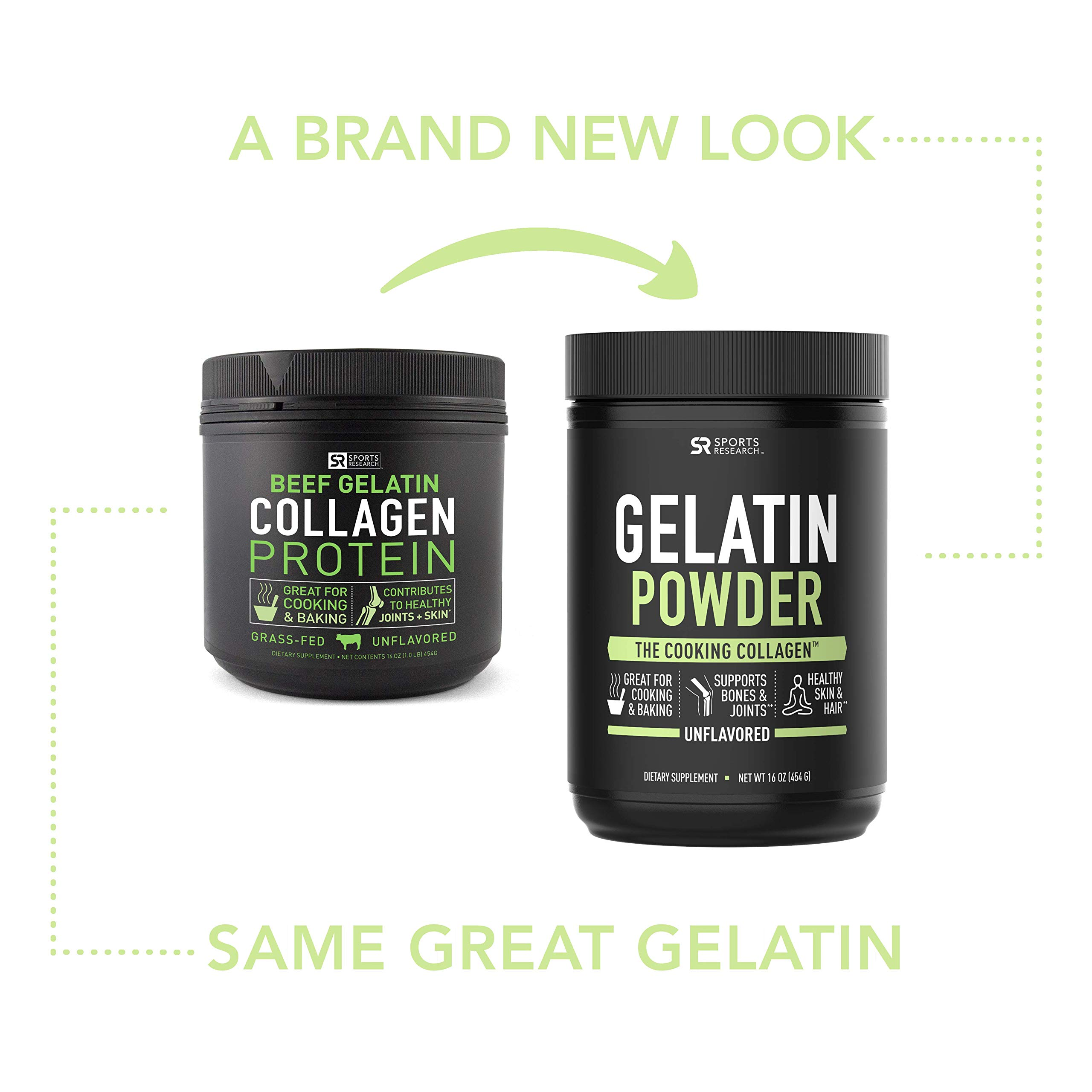 Gelatin Collagen Cooking Powder ~ Sourced from Pasture Raised,Grass-Fed Cows ~ Great for Cooking and Baking~ Certified Keto Friendly and Non-GMO (16oz) by Sports Research (Image #6)