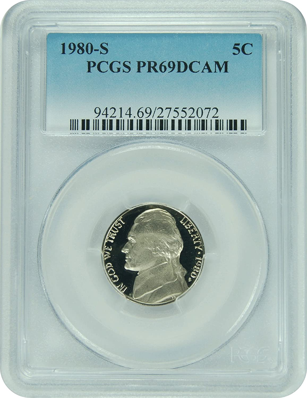 1980-S PCGS PR69DCAM Jefferson Nickel