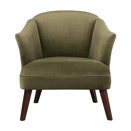 Charmant Amazon.com: Olive Green Mid Century Modern Velvet Accent Chair | Round  Barrel Back Tub: Kitchen U0026 Dining