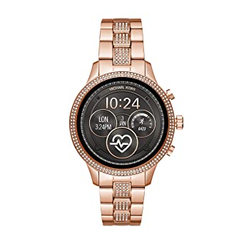 d7744f9bab3f Michael Kors Women s Access Runway Stainless Steel Plated Touchscreen Watch  with Strap