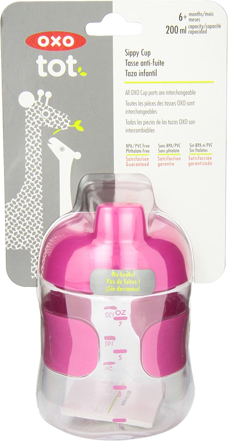 200 ml color rosa Botell/ín con v/álvula OXO 6129900