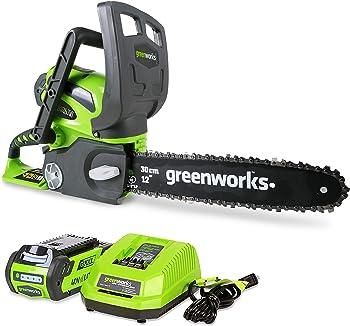 Greenworks 12-Inch Cordless Chainsaw