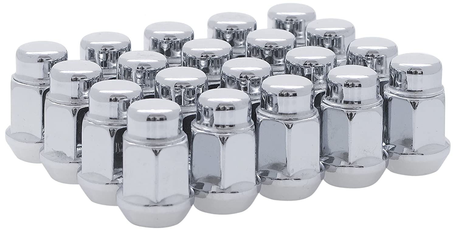 White Knight 1704S-20AM 1/2-Inch-20 Thread Size Bulge Acorn Lug Nut, Chrome, 20-Pack