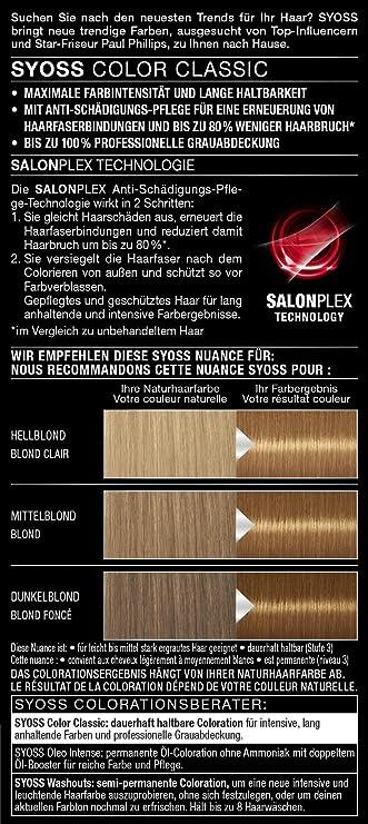 Syoss Coloration 7-66 - Tinte para el cabello rubio (115 ml)