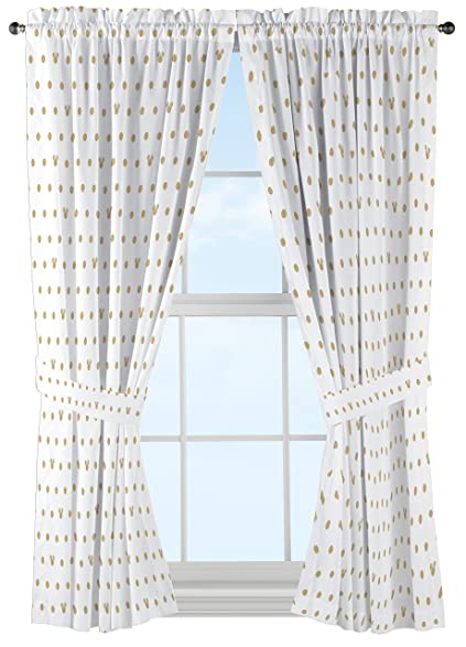 Disney Minnie Mouse Icon And Dots Curtain Set (2 Panels, 2 Tiebacks),