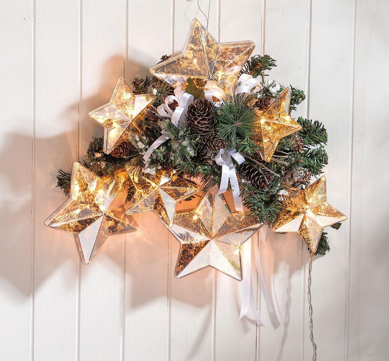 """Acrylkugel """"Stern"""" teilbar mit –se 14cm Weihnacht Christbaumschmuck"""