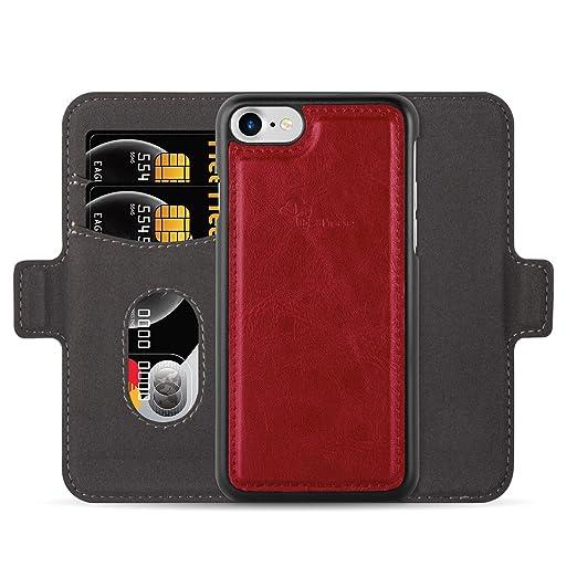 8 opinioni per Custodia e portafoglio per iPhone 7 / iPhone 8, E-Tree 2 in 1 staccabile Case in
