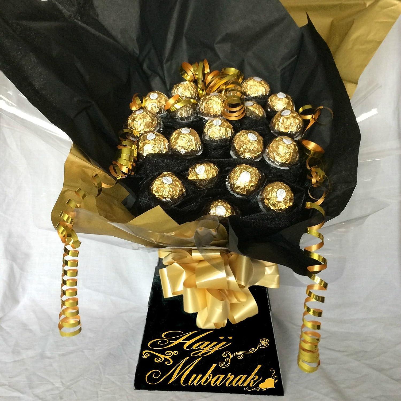 Hajj mubarak personalised ferrero rocher sweet bouquet chocolate hajj mubarak personalised ferrero rocher sweet bouquet chocolate bouquet hamper amazon grocery izmirmasajfo Images