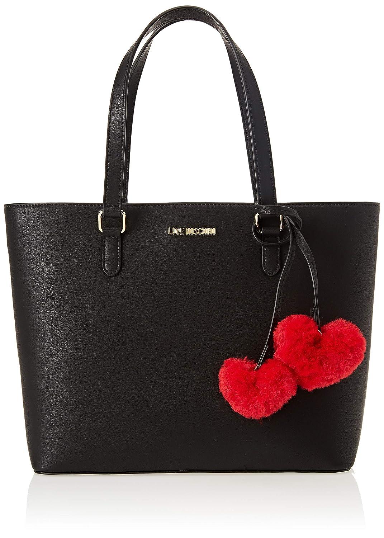 Love Moschino Women's Borsa Pin Grain Pu Tote Women's Tote Black (Nero) 12x27x38 cm (B x H T) JC4322PP06KW0