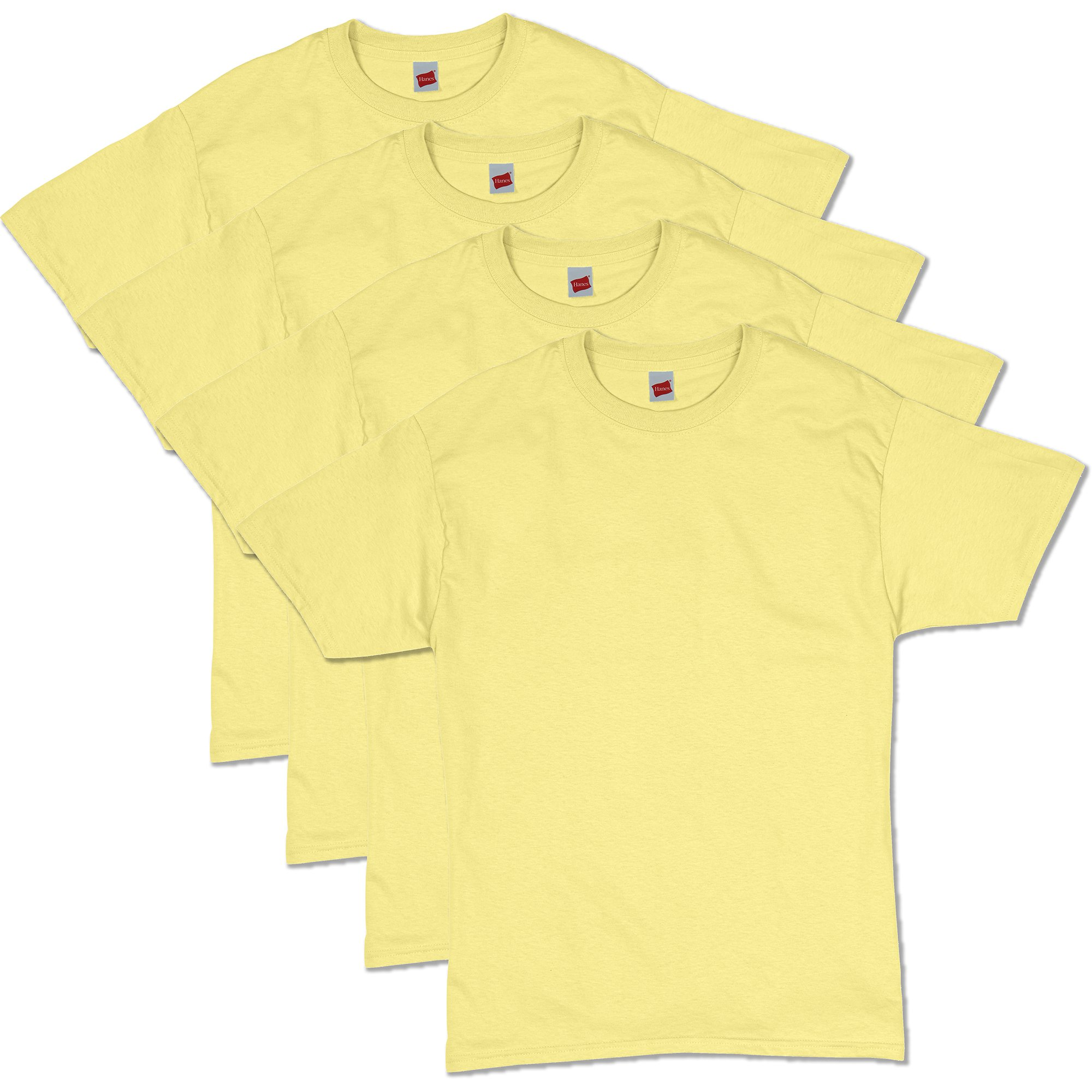 Hanes Men's Comfortsoft T-Shirt (Pack Of 4),yellow,3XL by Hanes (Image #1)