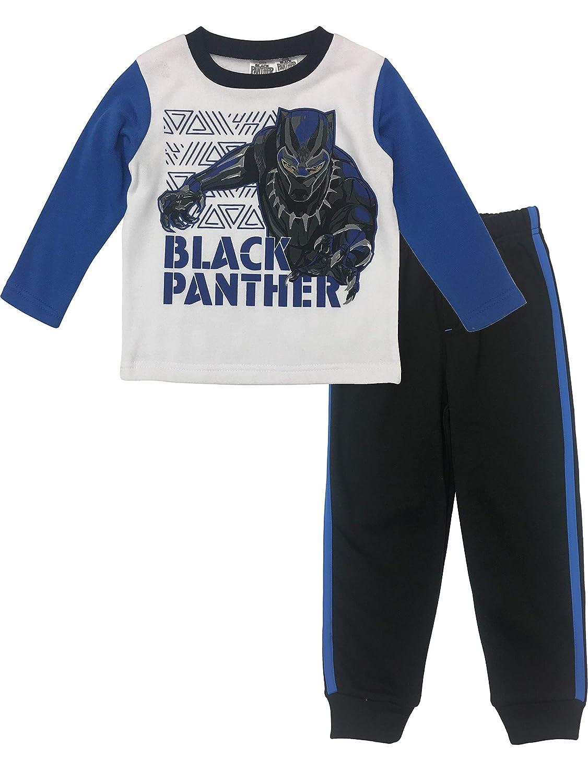 Marvel Avengers Black Panther Boys Fleece T-Shirt and Pants Clothing Set