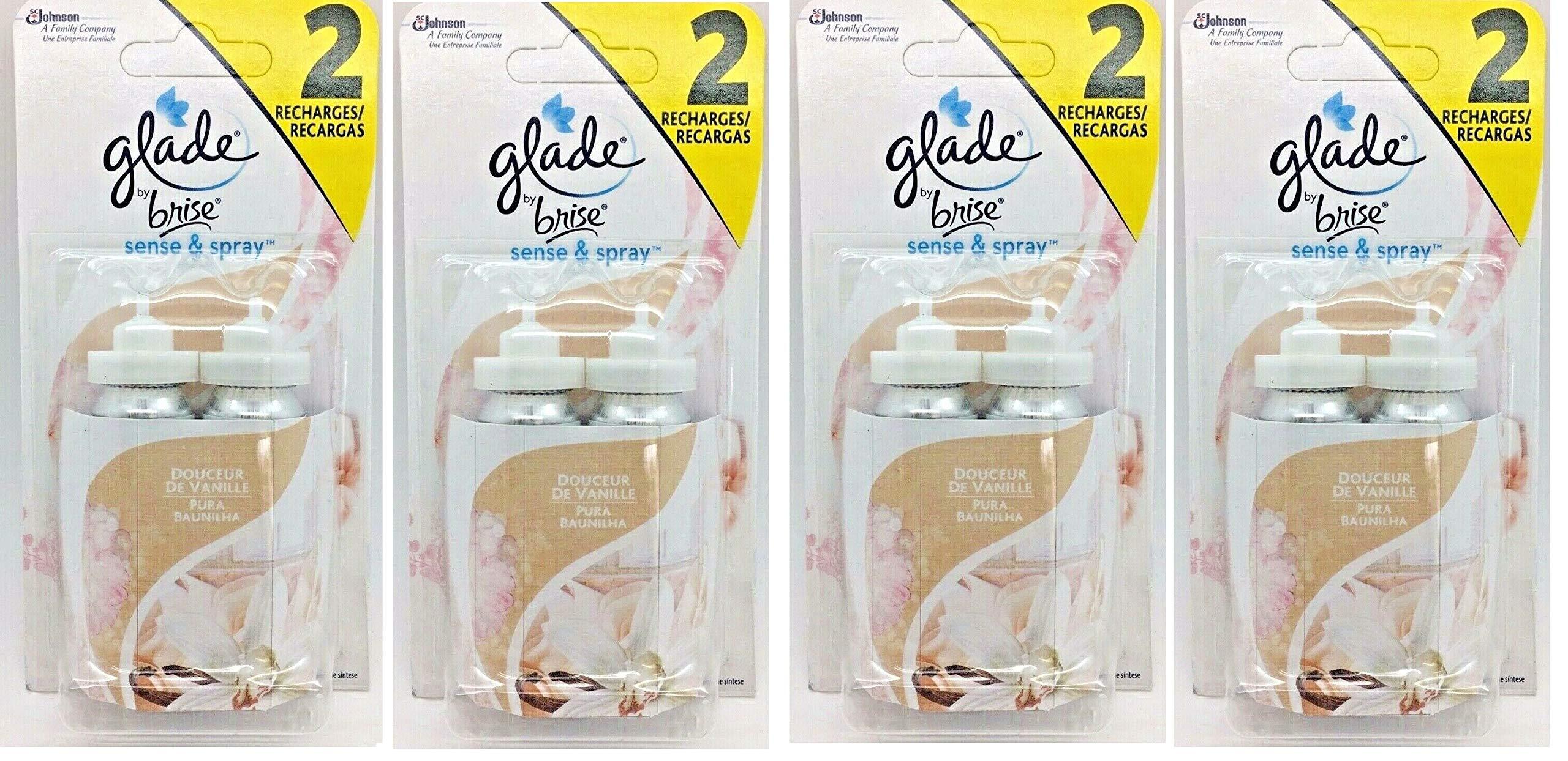 8 x Glade Sense & Spray Refills (Vanilla)