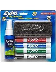 Expo Dry Erase Marker - 4-pack Starter Set with Eraser & Cleaner