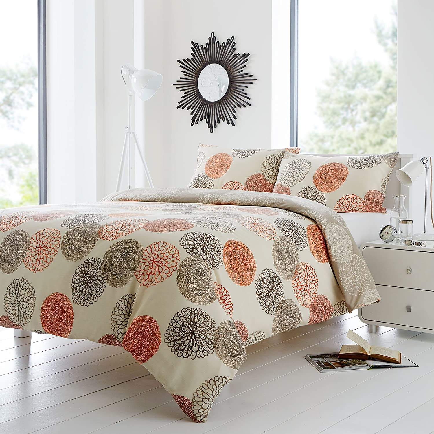 duvet s room print single set orange triangle bob cover noah king pin