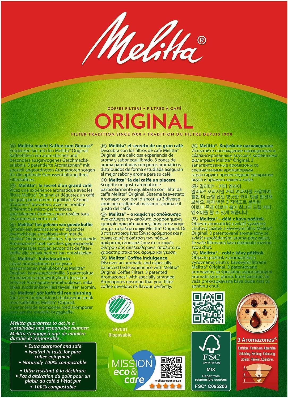 Melitta 102 80 pezzi marrone naturale 3 zone aromatiche