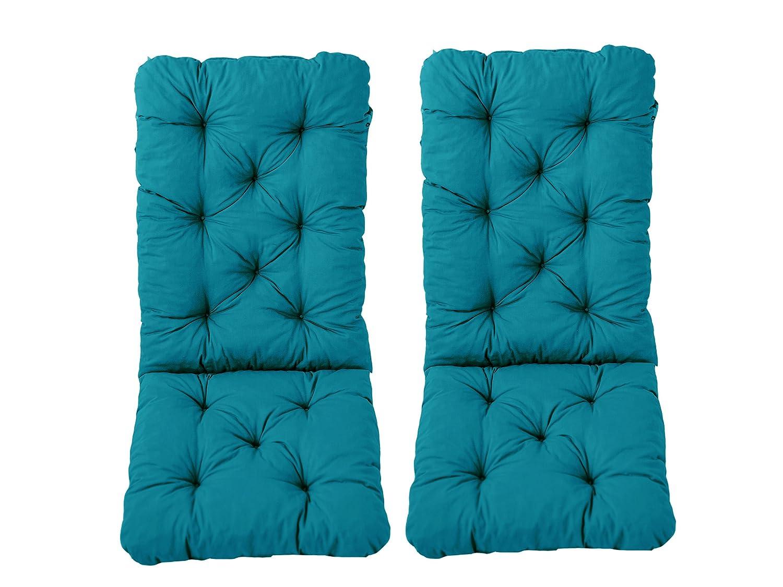 Ambientehome Hanko–Set di 2sdraio con cuscini oimbottiti per mobili da giardino, cuscino Hanko misura: Maxi, ca. 120x 50x 8cm, schienale ca. 70cm, cuscino imbottito 90638