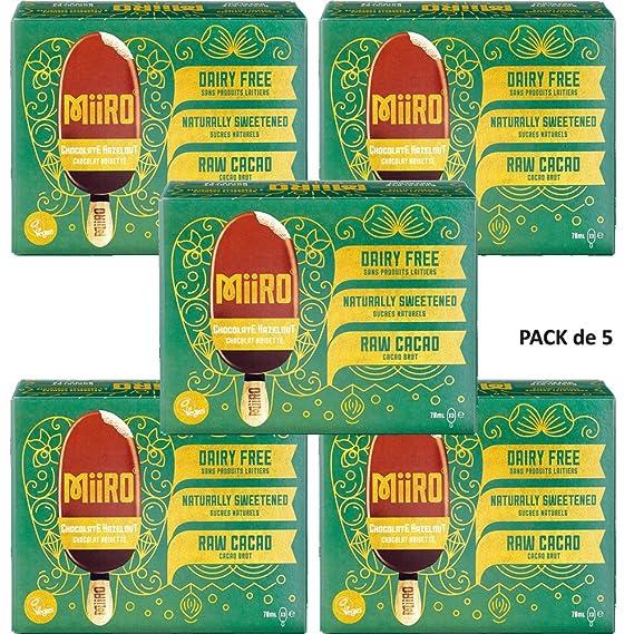MiiRO Pack de Helados Chocolate con Avellana 210g Pack de 5 ...