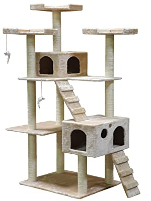 Go Pet Club Cat Tree F2040 - Beige - 72 in.