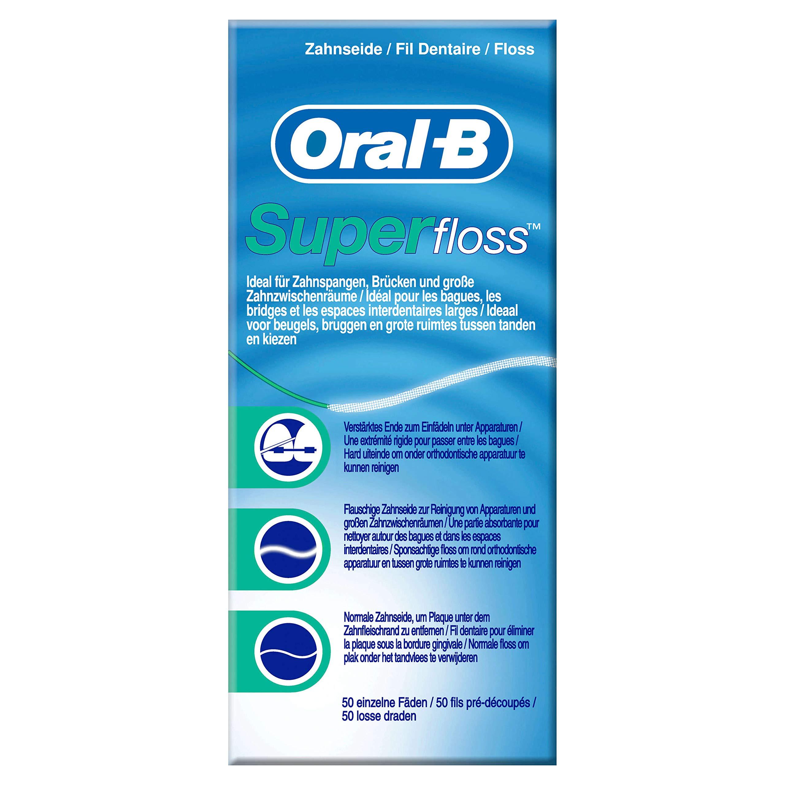 Oral B SuperFloss Super Dental Floss for Braces Bridges