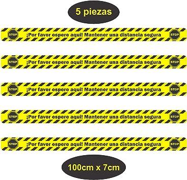 intervisio Pack de 5 unidades Vinilo Adhesivo Suelo Separador, 100 x 7cm, Pegatinas de alta Calidad para Suelo Antideslizante Seguridad, con protección UV, Super Resistente: Amazon.es: Bricolaje y herramientas