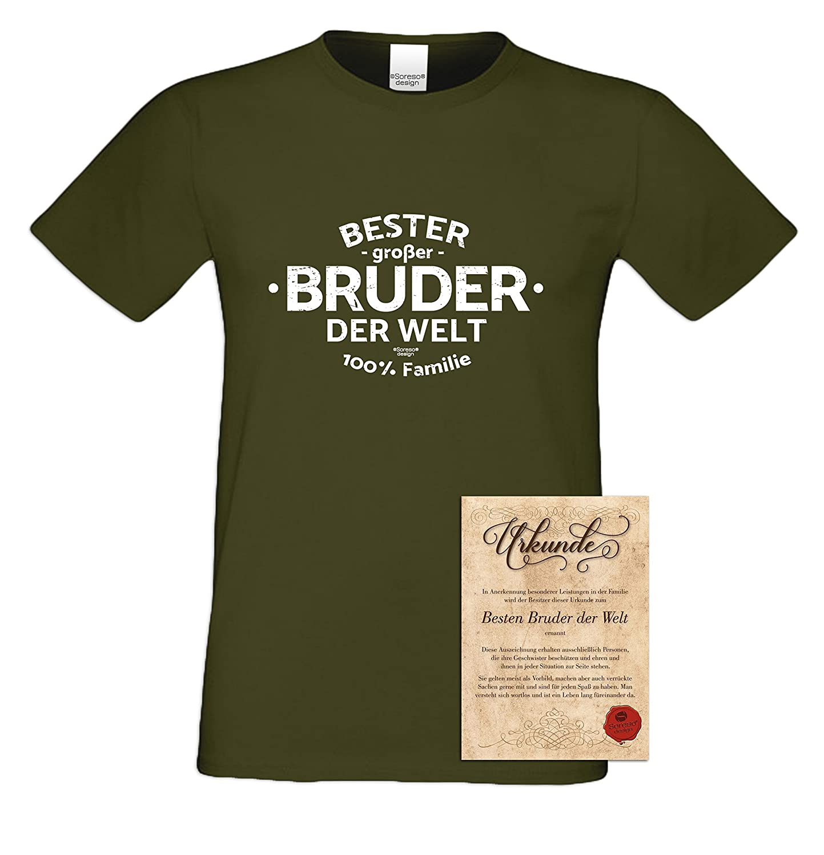 Soreso Design Geschenk-Set : Bester Großer Bruder der Welt : Herren ...