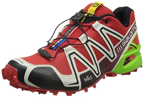 Salomon Men s Speedcross 3 Trail Running Shoes Radiant Red Light Grey Granny  Green 8  Buy Online at Low Prices in India - Amazon.in 4d9b33c48cd
