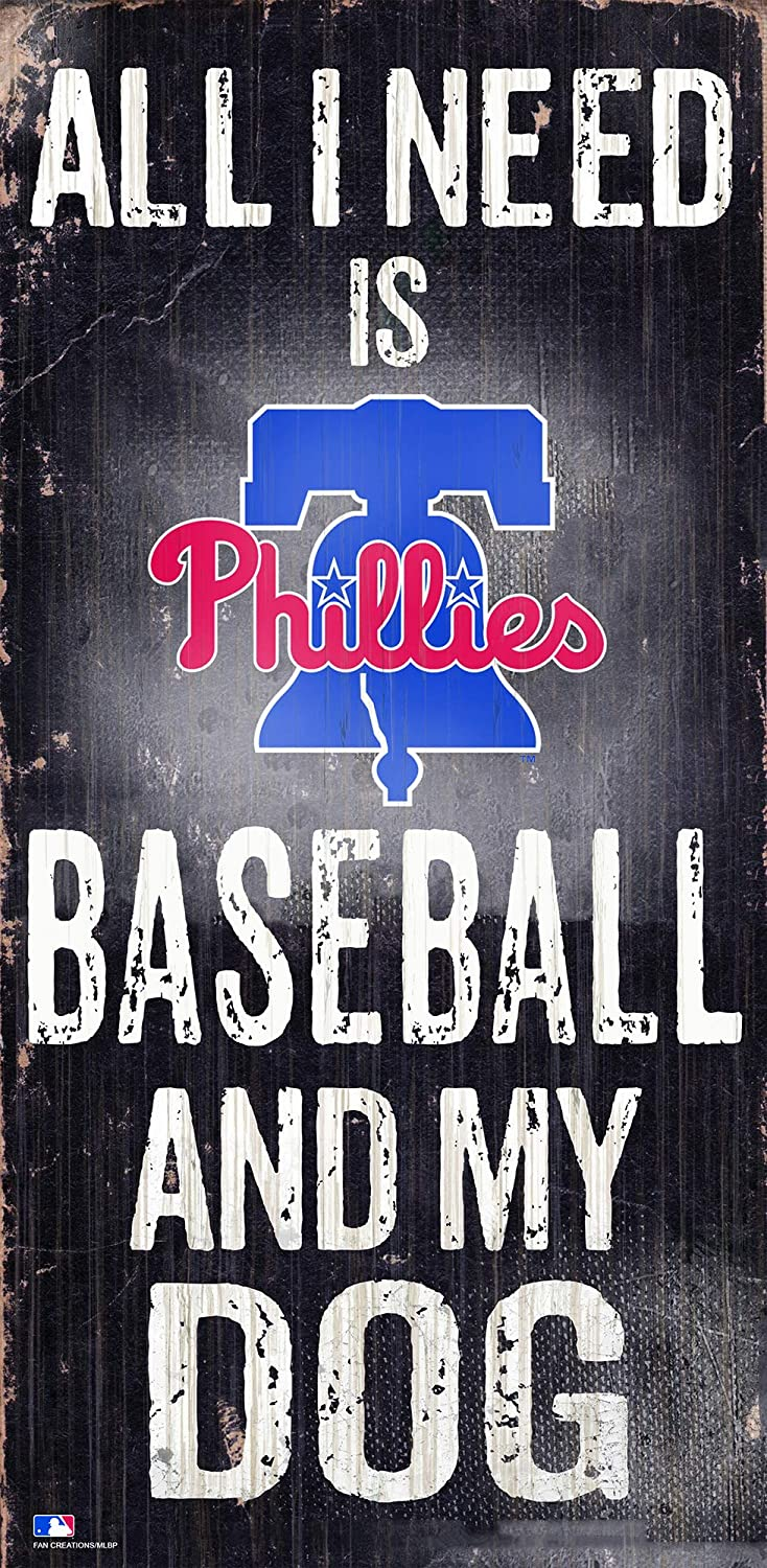 Fan Creations MLB Philadelphia Phillies Unisex Pittsburgh Pirates Baseball and My Dog Sign, Team Color, 6 x 12