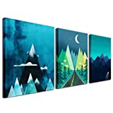 Amazon Price History for:Gardenia Art - Abstract Mountain at Night Canvas Prints Wall Art Paintings Abstract Geometry Wall Artworks Pictures for Living Room Bedroom Decoration, 16x12 inch/piece, 3 Panels