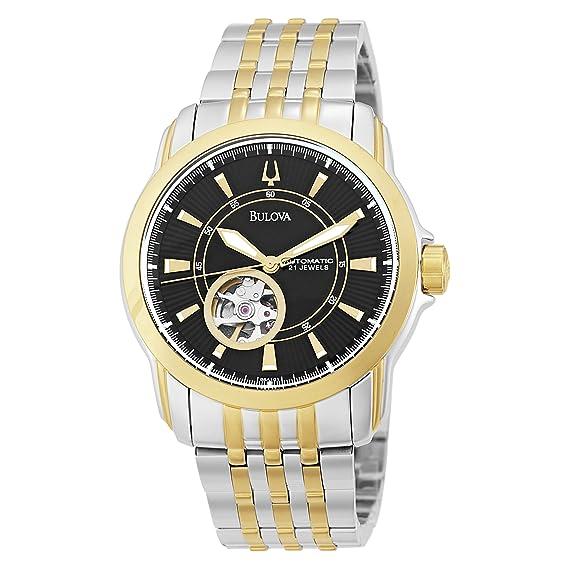 Bulova 98A101 - Reloj de pulsera hombre, acero inoxidable, color Plata: Amazon.es: Relojes
