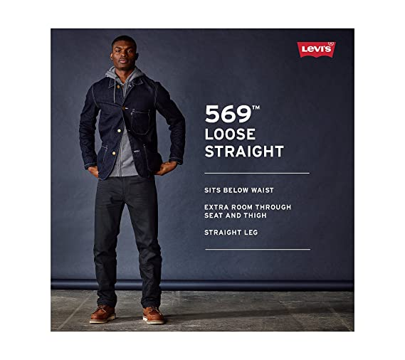 510a0ad4 Levi's¿ Mens Men's 569¿ Loose Straight Fit Ice Cap 40 34 at Amazon Men's  Clothing store: