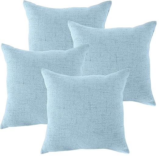 MRNIU cojines decoracion 45 x 45 Azul oscuro cojines sofas fundas de cojin fundas de almohadas Funda de almohada con cremallera invisible, sin ...