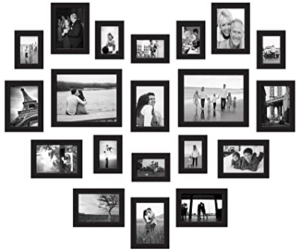 Amazon.com - Red Co 20-Piece Gallery Photo Frame Wall Collage Set ...