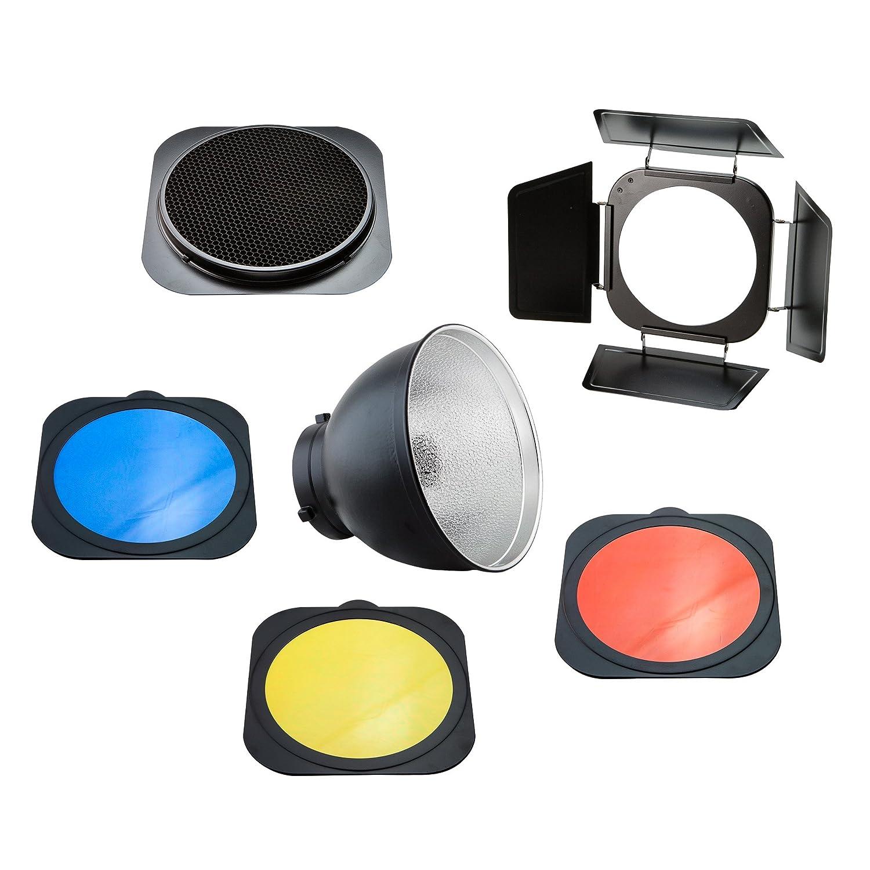 Photosel Frs558bn Standard Reflector With Barndoor Amazon