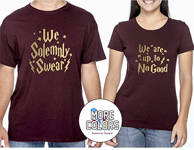 87deb7b0 Amazon.com: Harry Potter Couple Matching Shirt T-Shirt Funny Tee Gift for  Him Her Movie T Shirts: Handmade