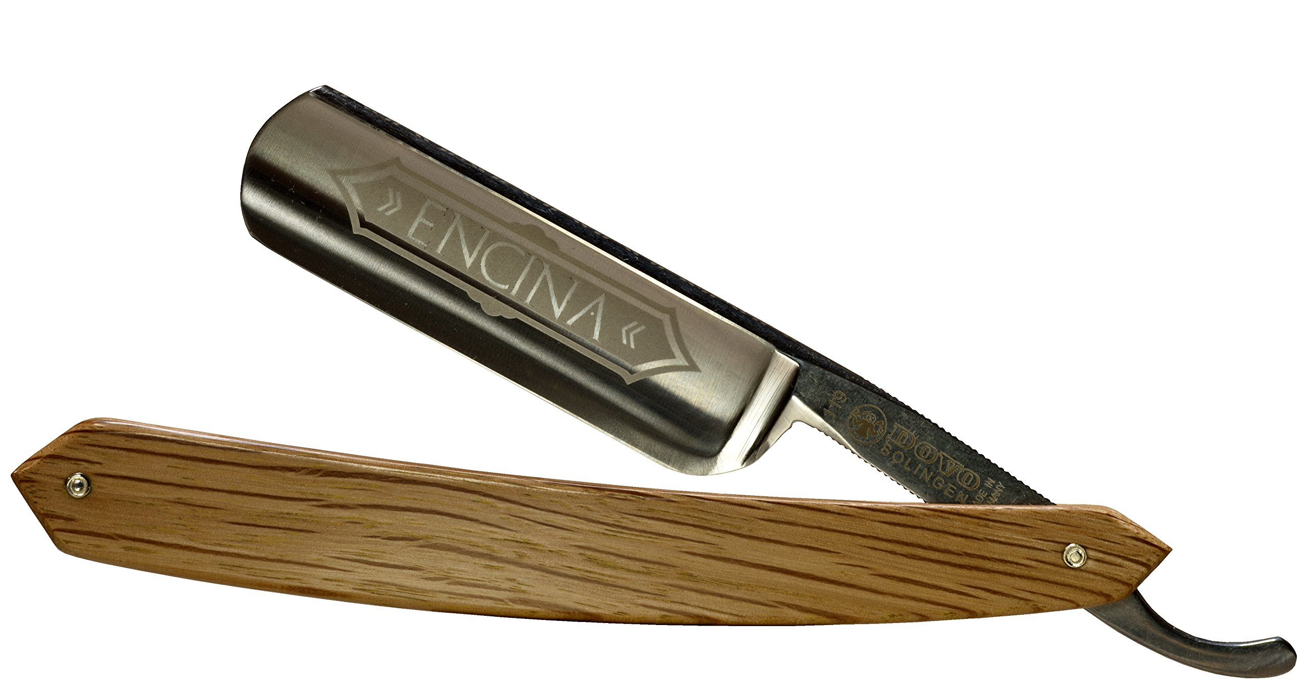 Dovo 1196860 Encina 6/8'' Carbon Steel Straight Razor, Full Hollow Ground, Spanish Oak Scales, with Shave Ready Option (Shave Ready, Unsealed)