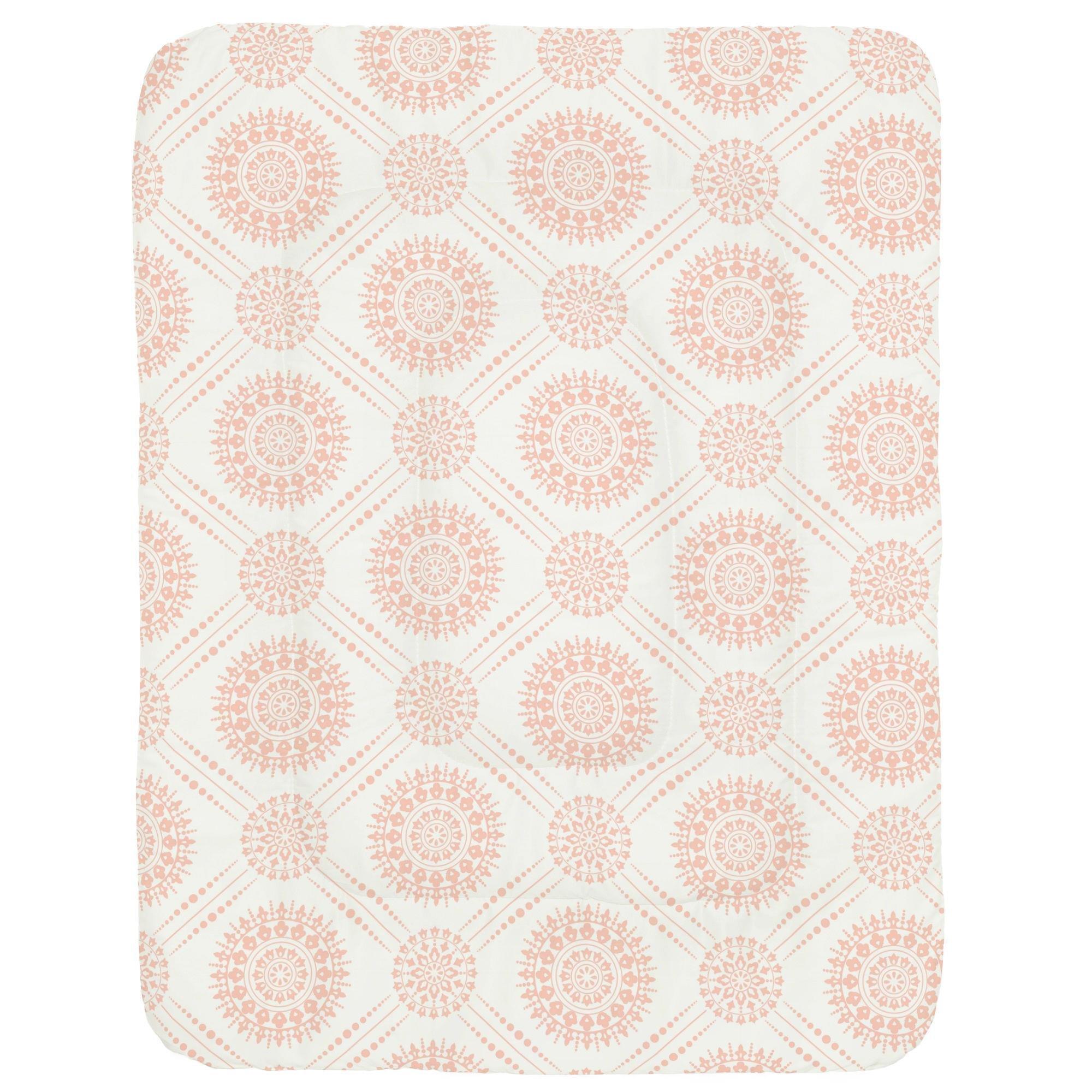 Carousel Designs Peach Modern Medallion Crib Comforter