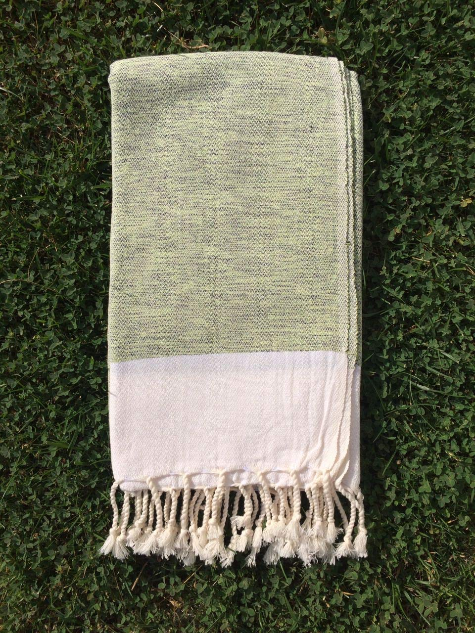 Turkish Cotton Bath Beach Spa Hammam Yoga Gym Yacht Hamam Towel Wrap Pareo Fouta Throw Peshtemal Pestemal Sheet Blanket (green)