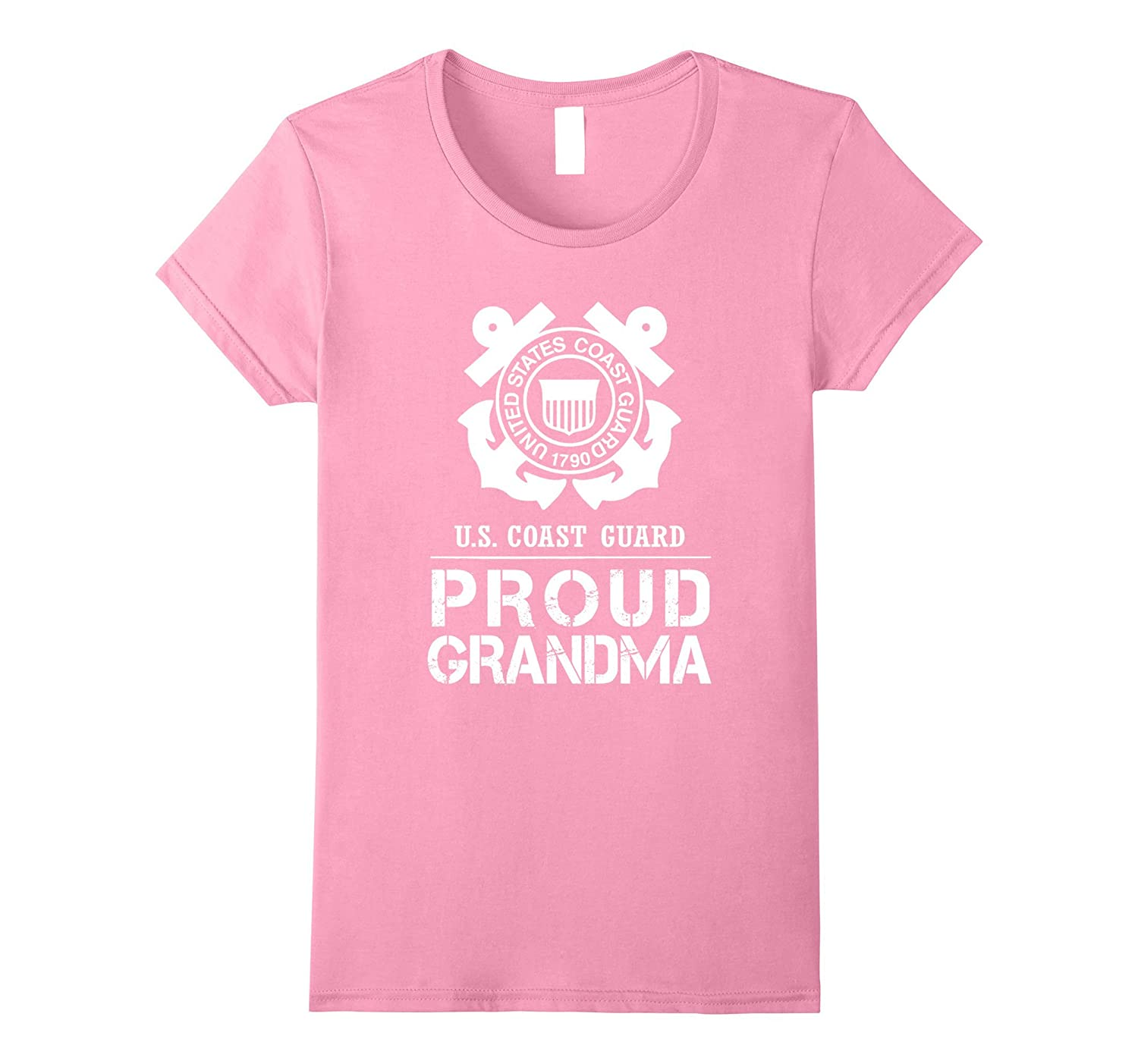 Proud US Coast Guard Grandma Tee US Army T Shirt