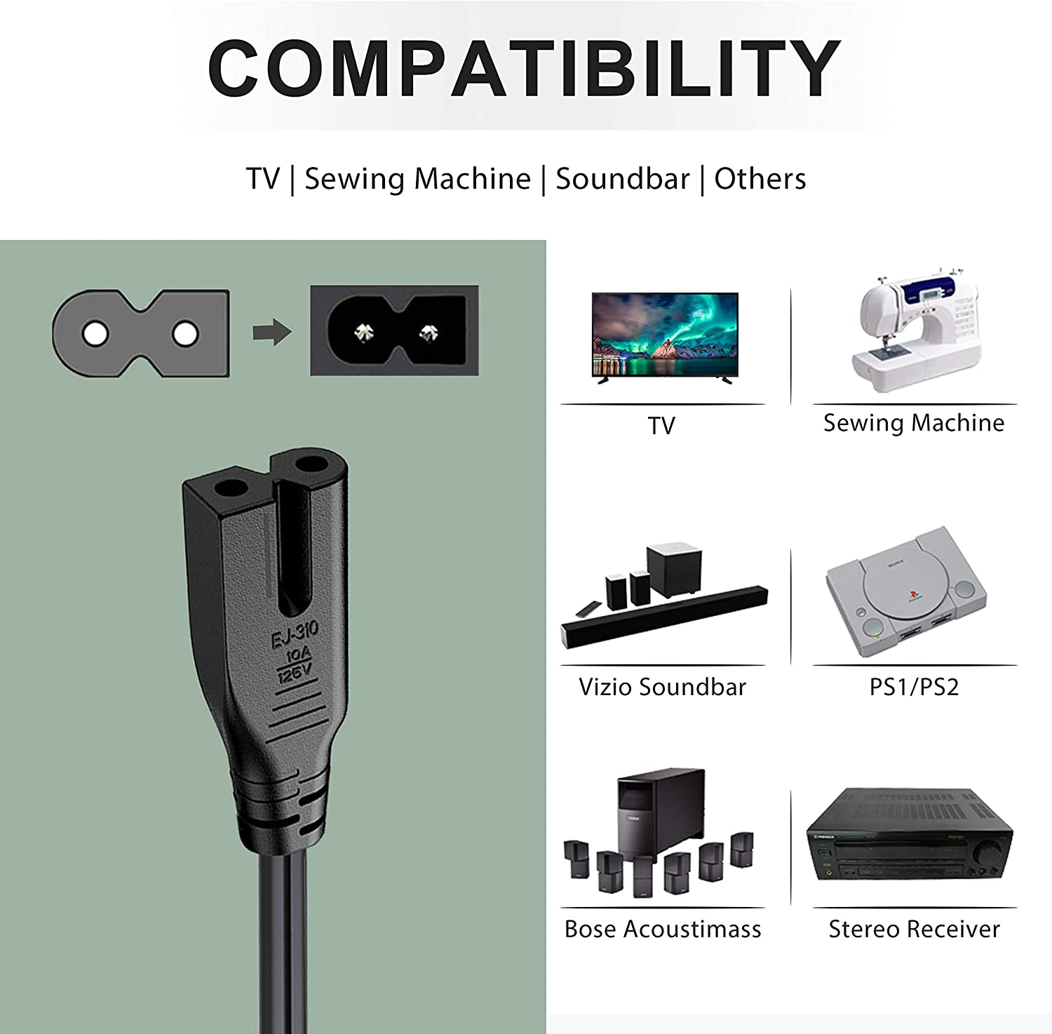 ghdonat.com Computers & Accessories Power Cables UL Listed Sharp ...