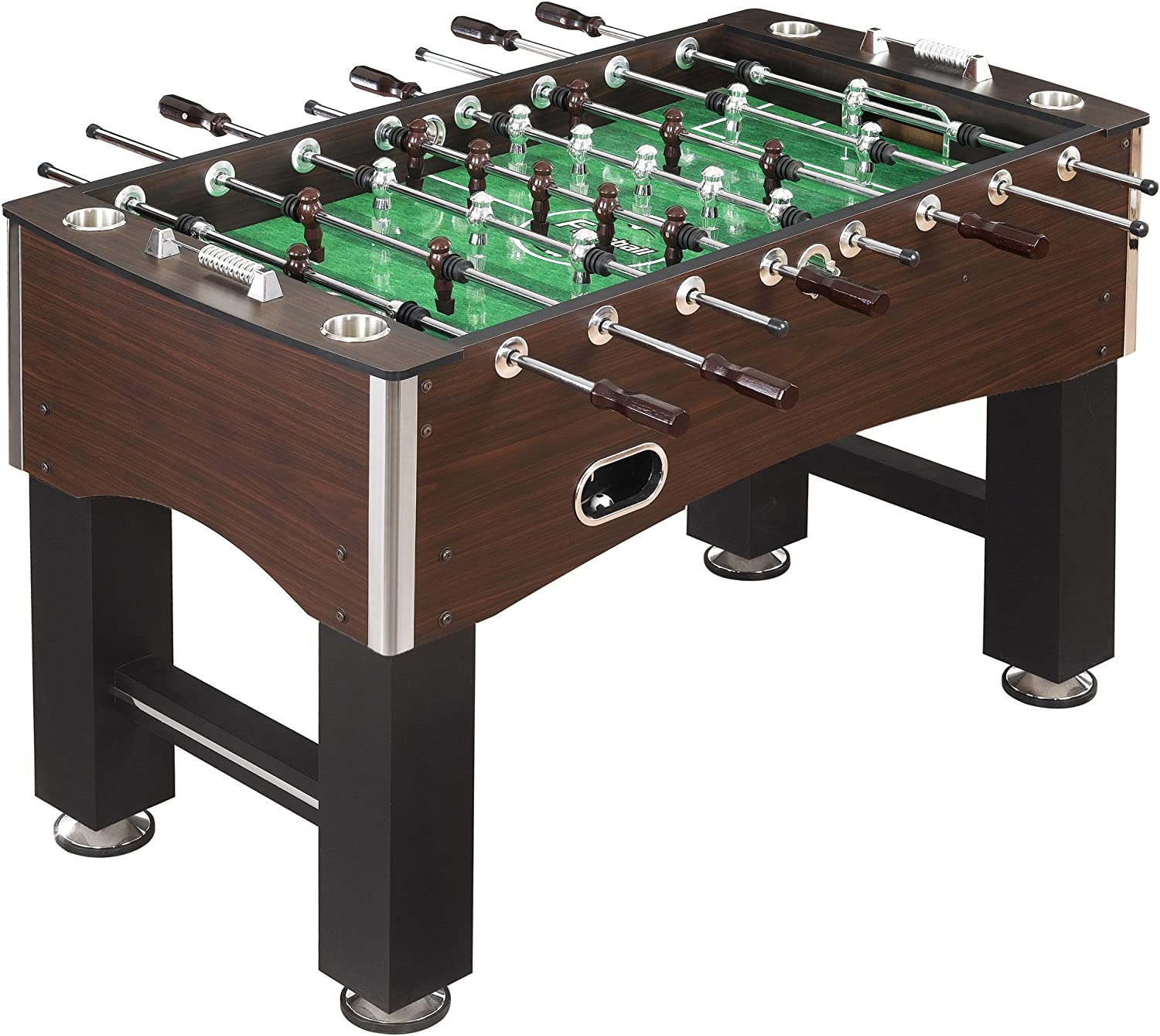 Hathaway 56 Inch Primo Foosball Table Family Soccer Game With Wood Grain Finish Analog Scoring And Free Accessories Foosball Tables Sports Outdoors
